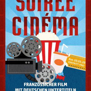 Affiche pour les soirées cinéma organisées par l'association IGP e.V.