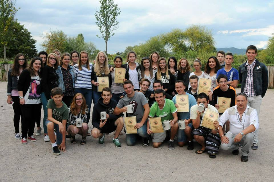 Adolescents lors d'une sortie franco-allemande