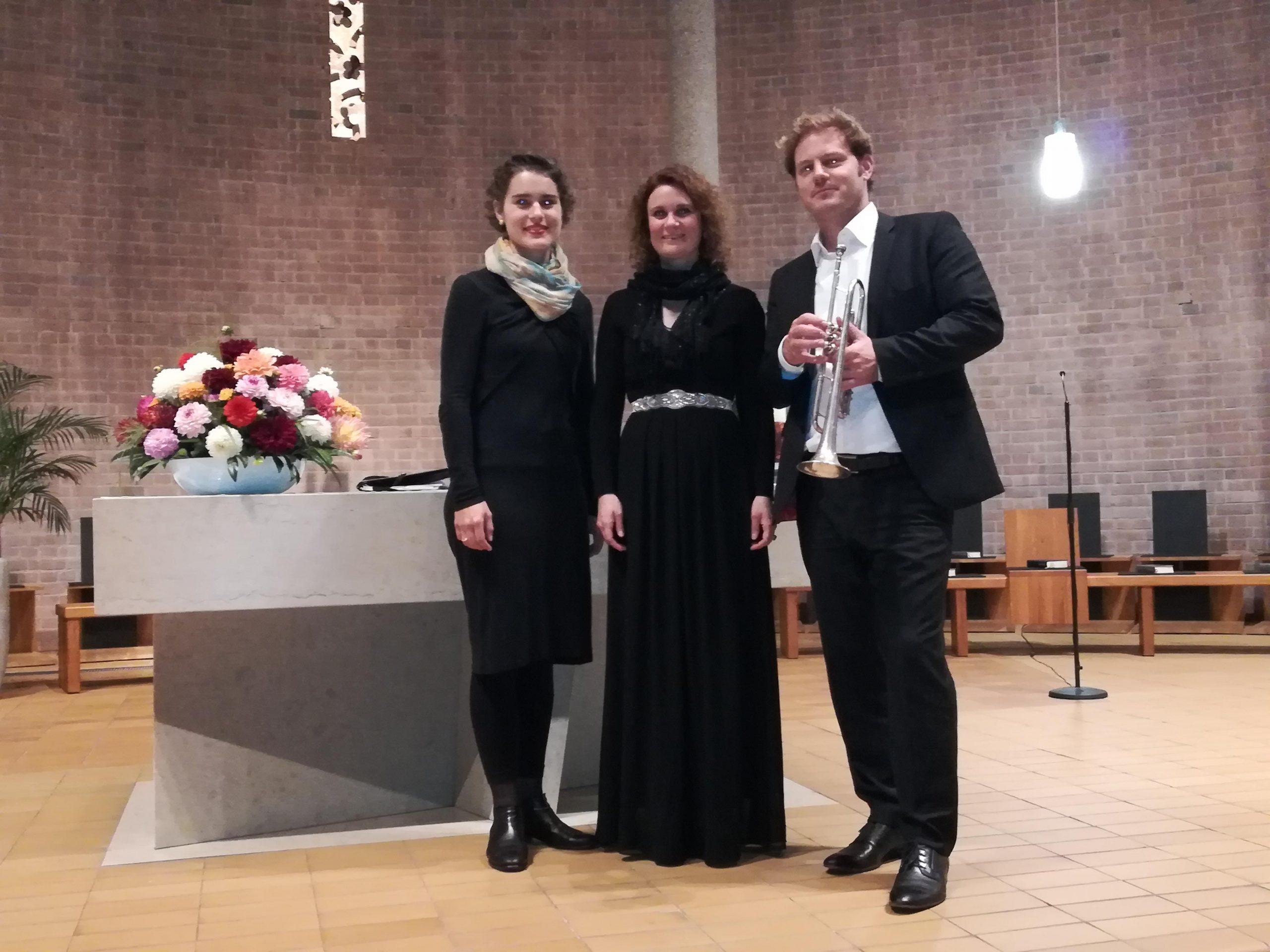Anabelle Hund, Rüdiger Kurz et Christine Rahn lors de du concert organisé par l'IGP e.V. dans le cadre de la semaine française de Heidelberg.