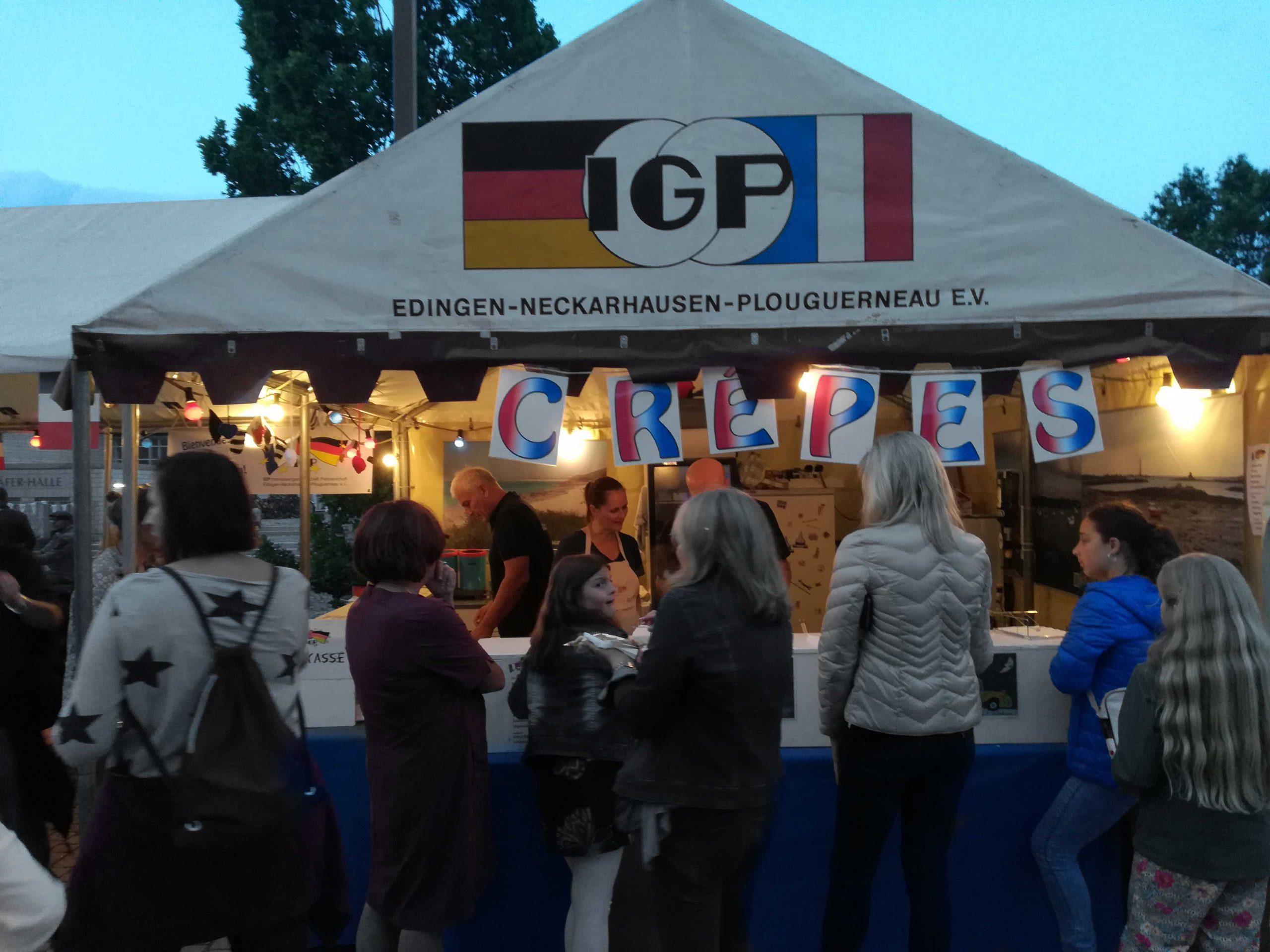 Der IGP e.V. war auf dem Crêpe-Stand beim Stadtfest Edingen-Neckarhausen vertreten.