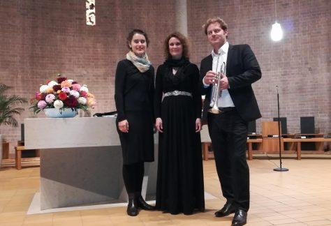 Anabelle Hund, Rüdiger Kurz und Christine Rahn beim Konzert der IGP e.V. im Rahmen der Französischen Woche in Heidelberg.