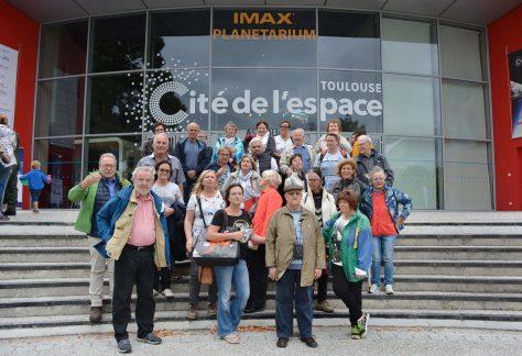 Die deutsch-französische Gruppe besuchte die Cité de l'Espace in Toulouse.