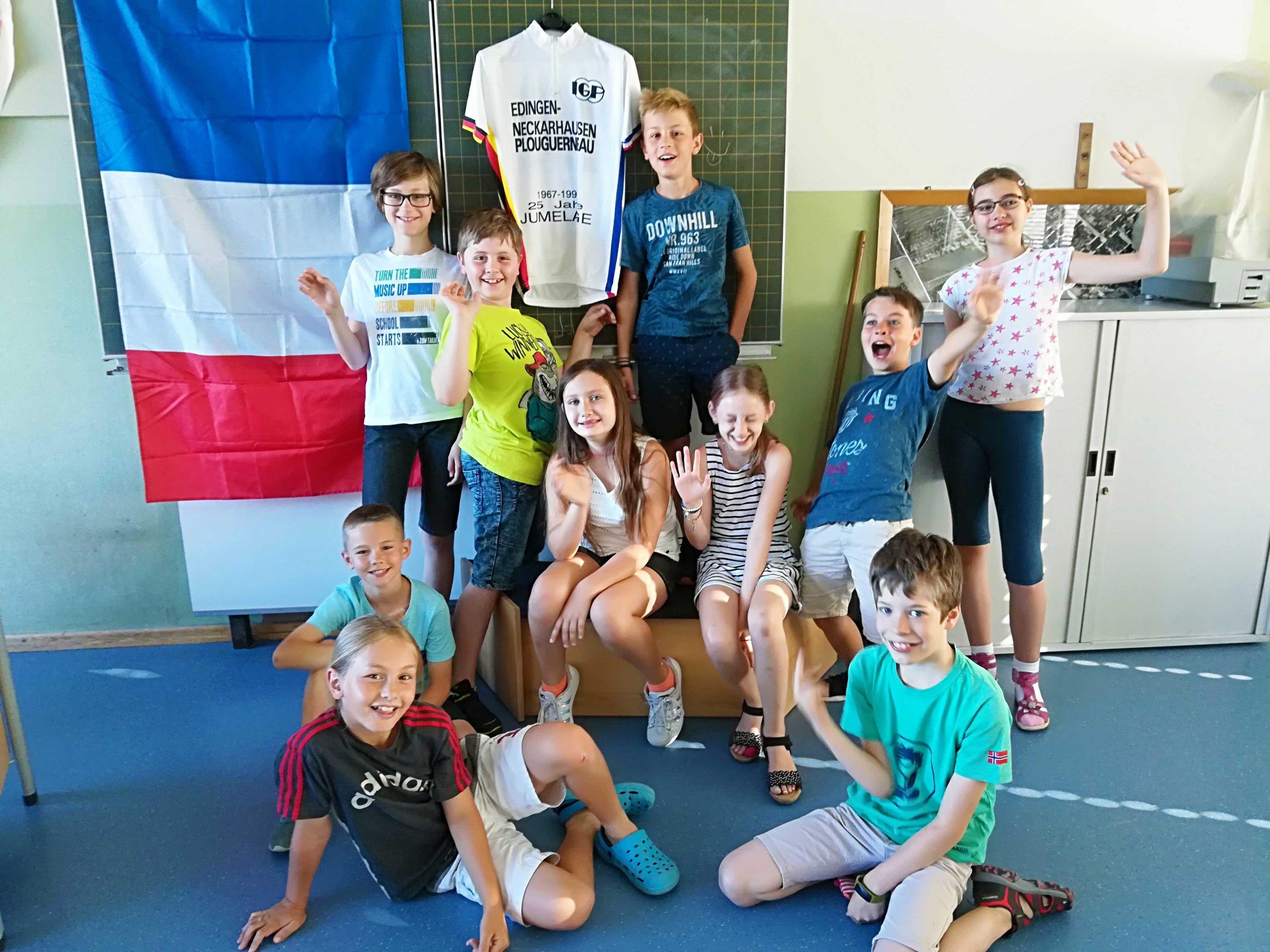 Les élèves de l'école Graf-von-Oberndorff lors de l'atelier de français