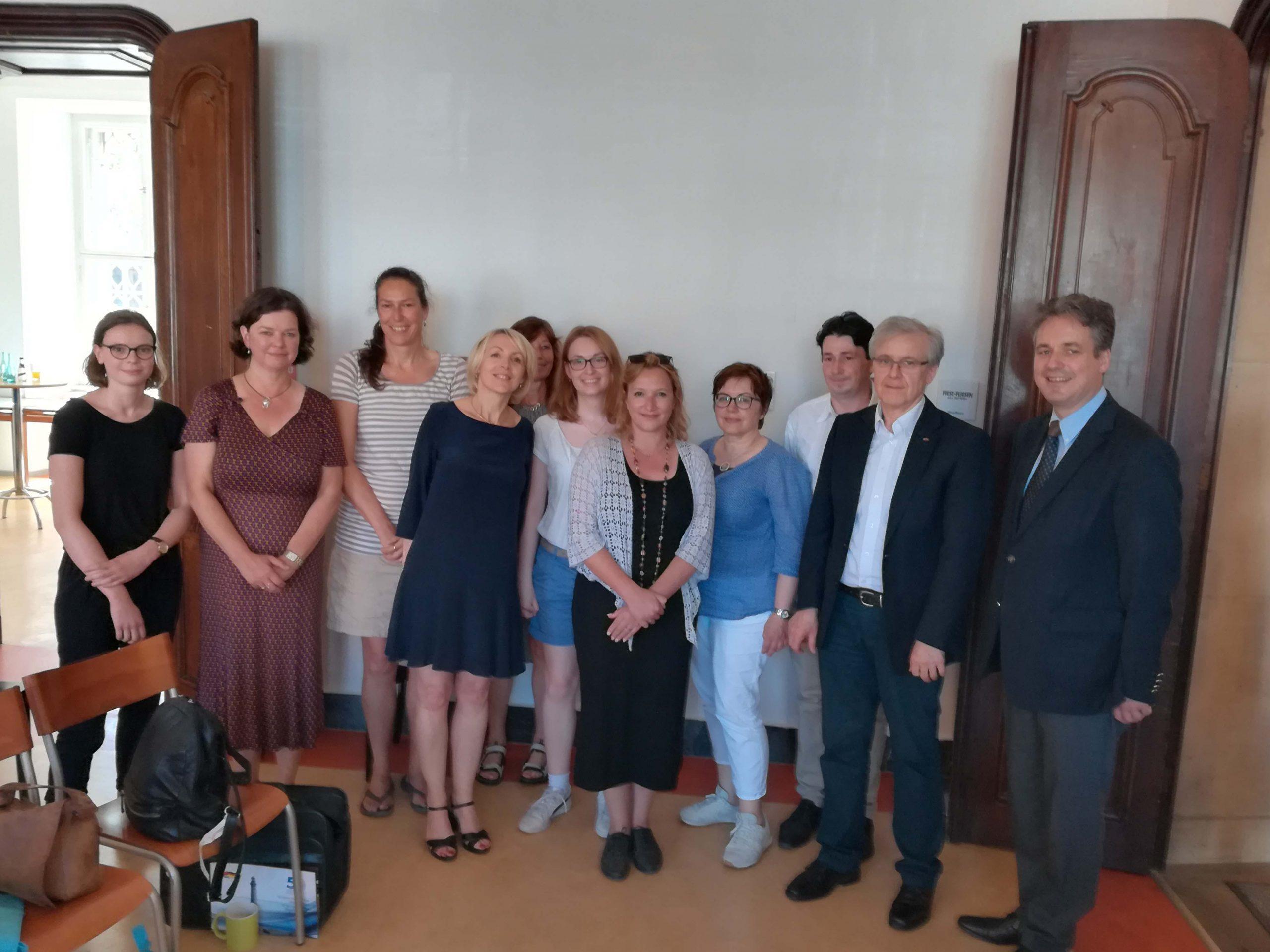 Les membres de l'IGP e.V. avec les secrétaires généreaux de l'OFAJ