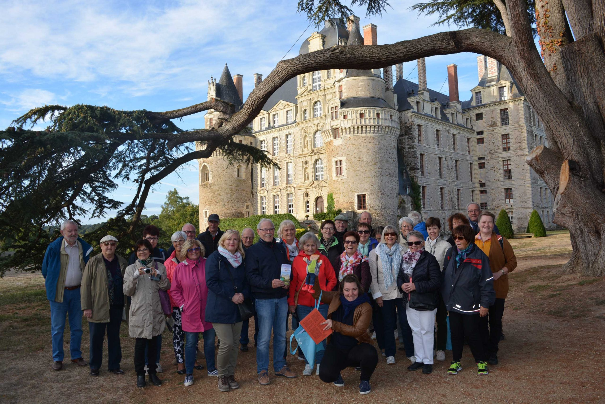 Les participants français et allemand en visite dans la région d'Anjou