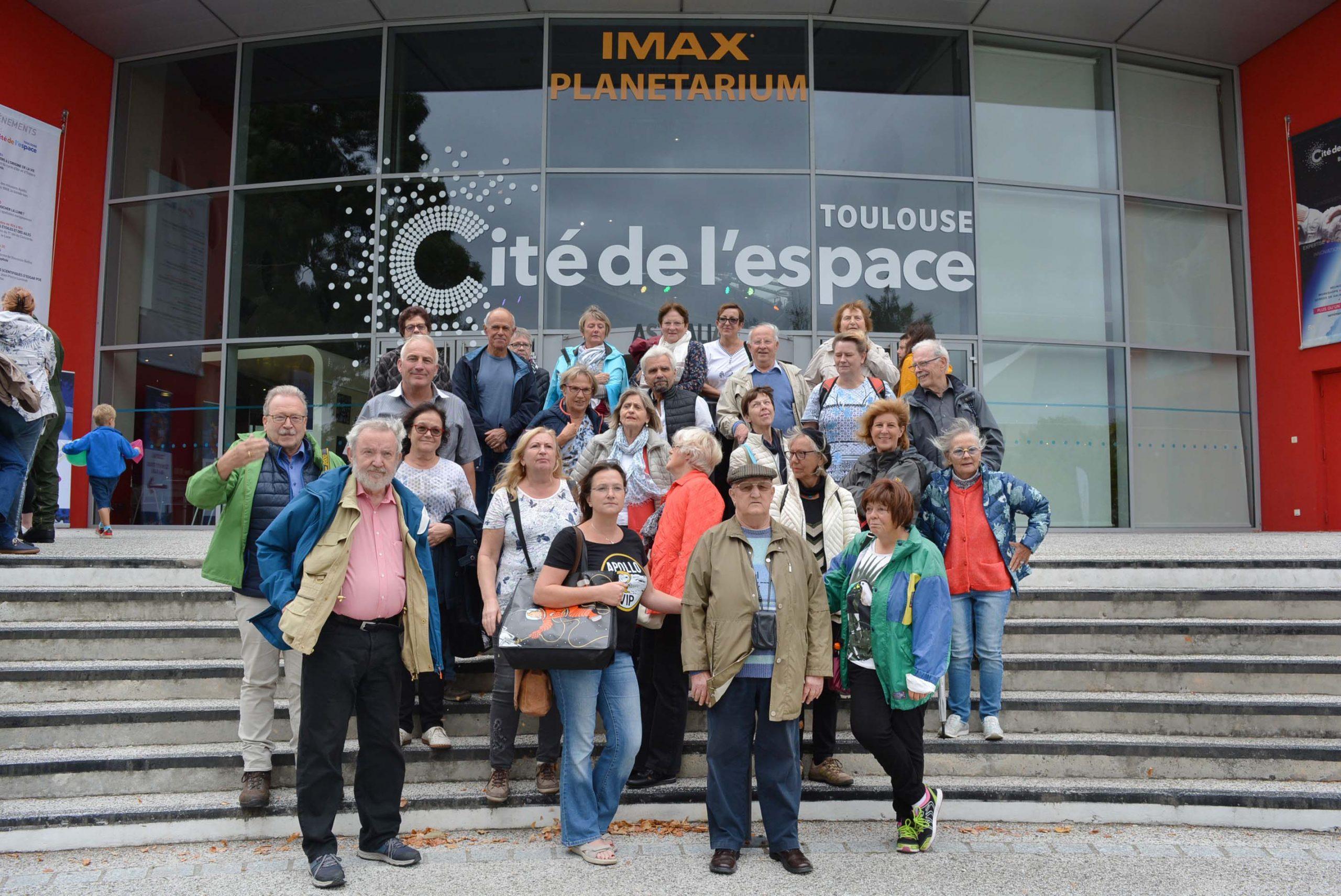 Le groupe franco-allemand a visité la cité de l'espace de Toulouse