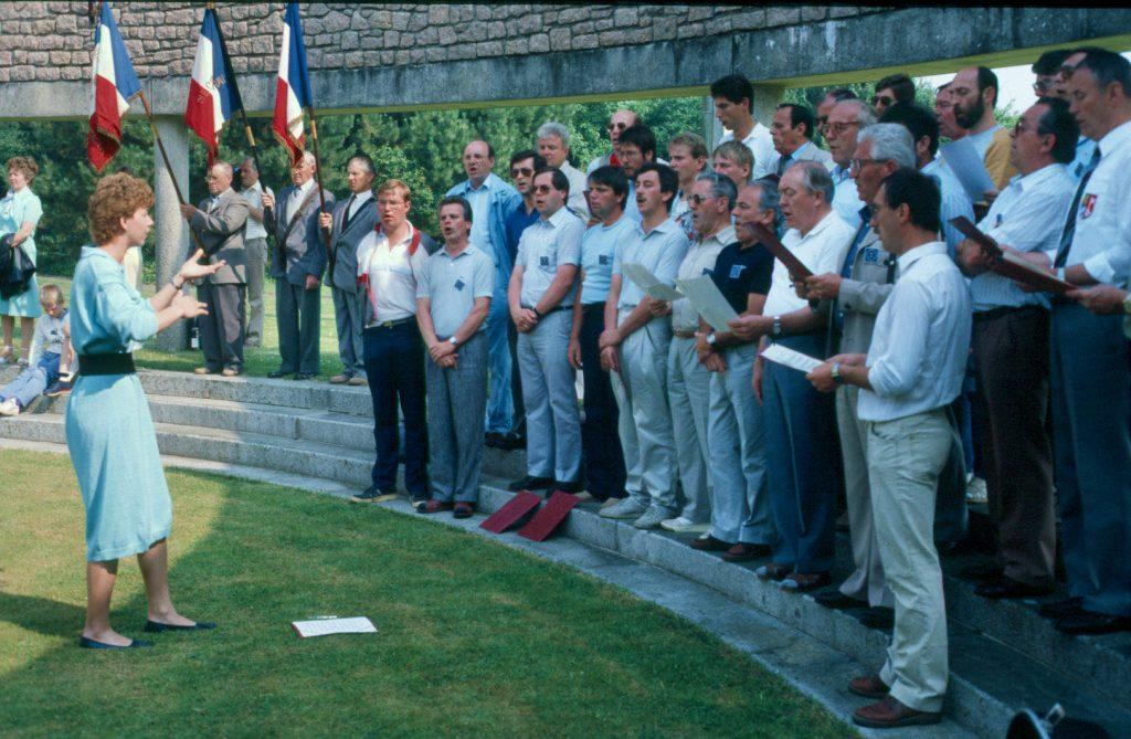 choeur allemand de l'IGP Jumelage dans les années 80